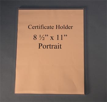 Certificate Holders Wall Mount Flush Mount