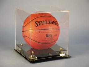 Basketball Black Base W/ Gold Risers