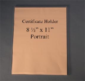 Certificate Holder Wall Mount Flush Mount 8.5x11