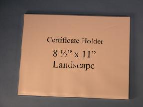 Certificate Holder Wall Mount Flush Mount - Landscape 8.5 x 11