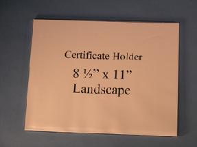Certificate Holder Wall Mount Flush Mount - Landscape 11x14